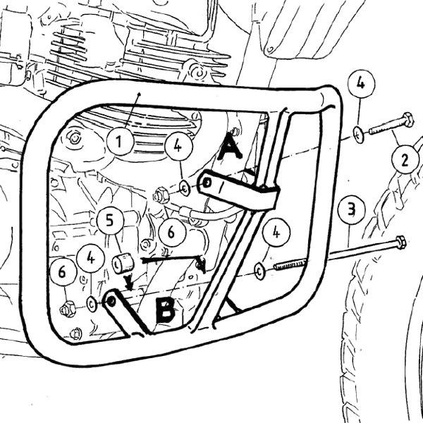 ヘプコアンドベッカー HEPCO&BECKER エンジンガード 02年-08年 XR125L ブラック 501932 00 01 JP店