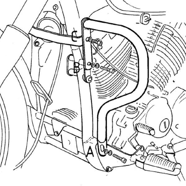 ヘプコアンドベッカー HEPCO&BECKER エンジンガード 98年-07年 XVS650 ドラッグスター クローム 501412 00 02 JP店
