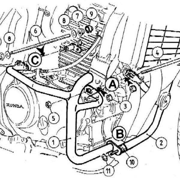 ヘプコアンドベッカー HEPCO&BECKER エンジンガード 04年-07年 CBF500 ブラック 501937 00 01 JP店
