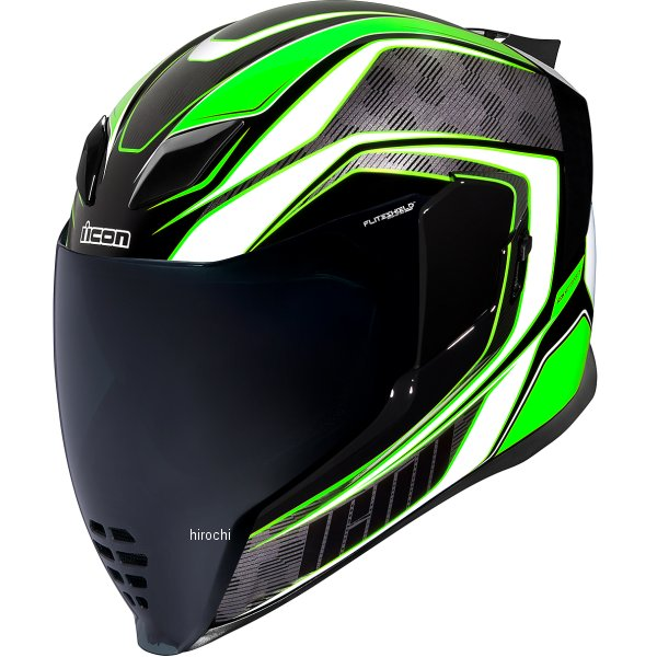 アイコン ICON フルフェイスヘルメット AIRFLITE RACEFLITE 緑 2XLサイズ 0101-13209 JP店