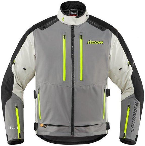 アイコン ICON 2020年春夏モデル ジャケット RAIDEN グレー/HIVIZ MDサイズ 2820-5003 JP店