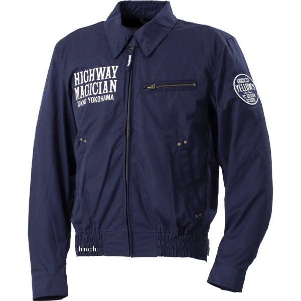 イエローコーン YeLLOW CORN 2020年春夏モデル コットンツイルジャケット ネイビー 3LWサイズ YB-0100 JP店