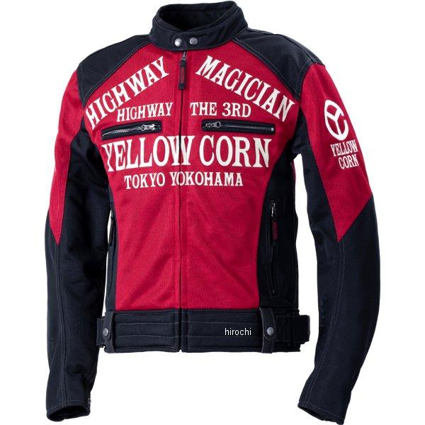 イエローコーン YeLLOW CORN 2020年春夏モデル メッシュジャケット 黒/赤 LLサイズ YB-0106 JP店