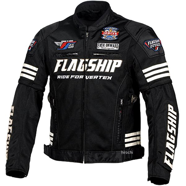 フラッグシップ FLAGSHIP 2020年春夏モデル タクティカルメッシュジャケット 黒/白 4Lサイズ FJ-S203 JP店
