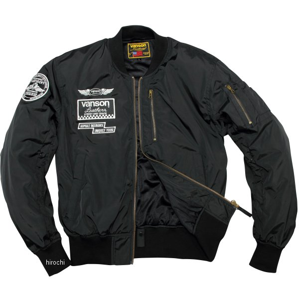バンソン VANSON 2020年春夏モデル ナイロンジャケット 黒/白 XLサイズ VS20104S JP店