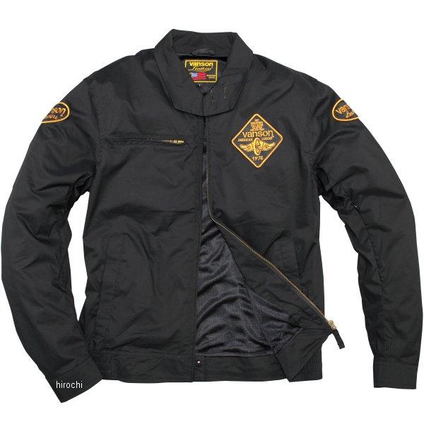 バンソン VANSON 2020年春夏モデル ナイロンジャケット 黒/イエロー XLサイズ VS20105S JP店