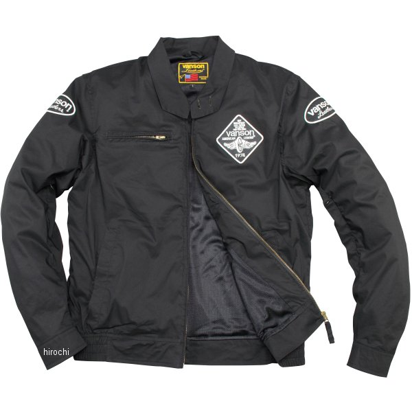 バンソン VANSON 2020年春夏モデル ナイロンジャケット 黒/白 Lサイズ VS20105S JP店
