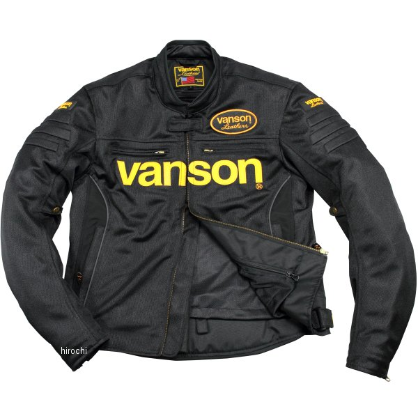 バンソン VANSON 2020年春夏モデル メッシュジャケット 黒/イエロー 3XLサイズ VS20107S JP店