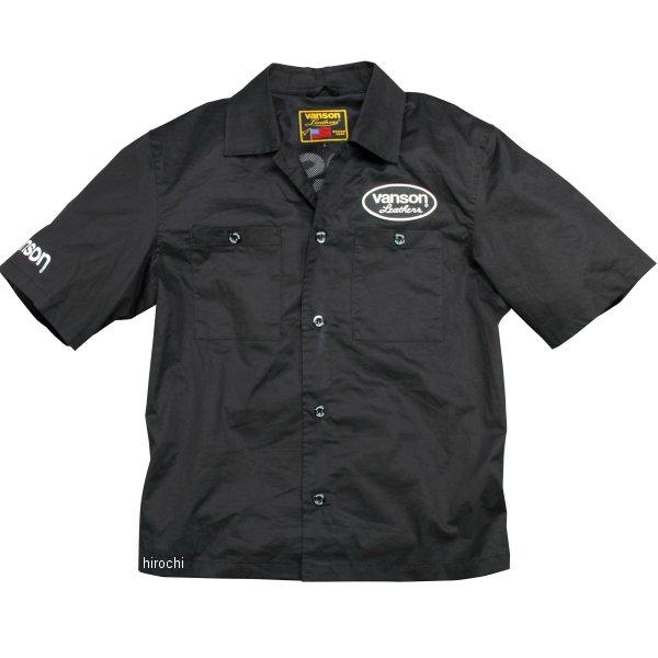 バンソン VANSON 2020年春夏モデル ワークシャツ 黒/白 L2Wサイズ VS20108S JP店