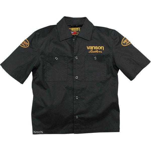 バンソン VANSON 2020年春夏モデル ワークシャツ 黒/イエロー Mサイズ VS20109S JP店