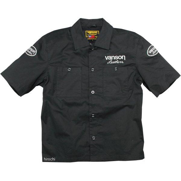 バンソン VANSON 2020年春夏モデル ワークシャツ 黒/白 2XLサイズ VS20109S JP店