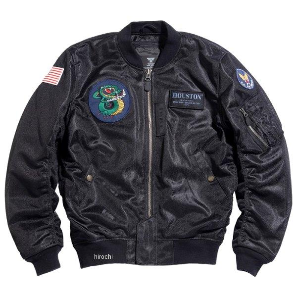 ヒューストン HOUSTON 2020年春夏モデル メッシュジャケット MA-1 CUSTOM MESH M/C 黒 3XLサイズ HTVA2031SBK3 JP店
