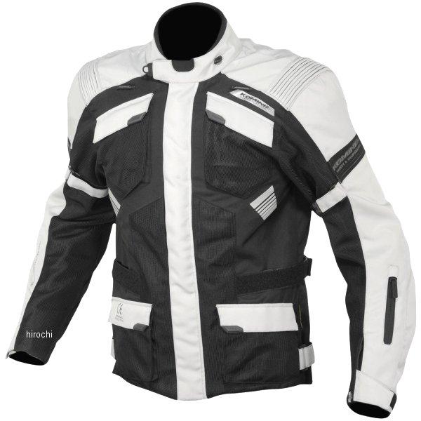 JK-142 コミネ KOMINE 2020年春夏モデル プロテクトアドベンチャーメッシュジャケット ライトグレー/黒 3XLサイズ 07-142 JP店