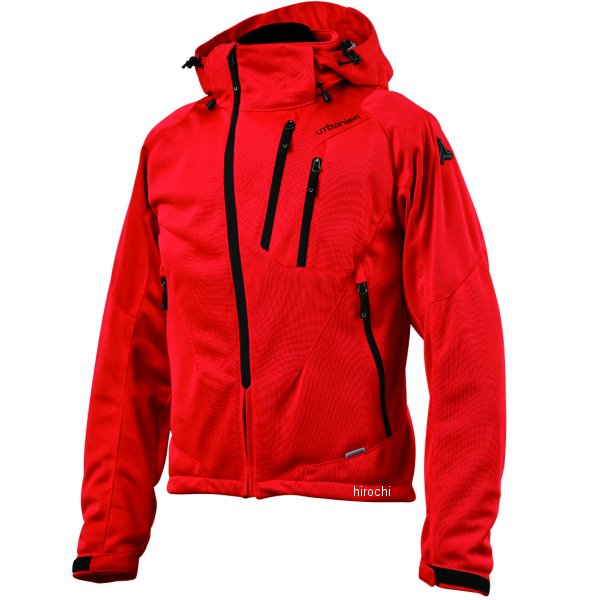 アーバニズム urbanism 2020年春夏モデル フードメッシュジャケット 赤 3Lサイズ UNJ-079 JP店