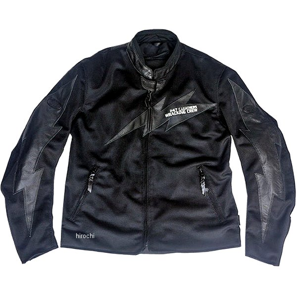 TFJ1901 トゥエンティ・フォー・セブン カスタムレザース 24/7 Custom Leathers メッシュジャケット 黒/黒 XLサイズ TFJ1901-BK-BK-XL JP店