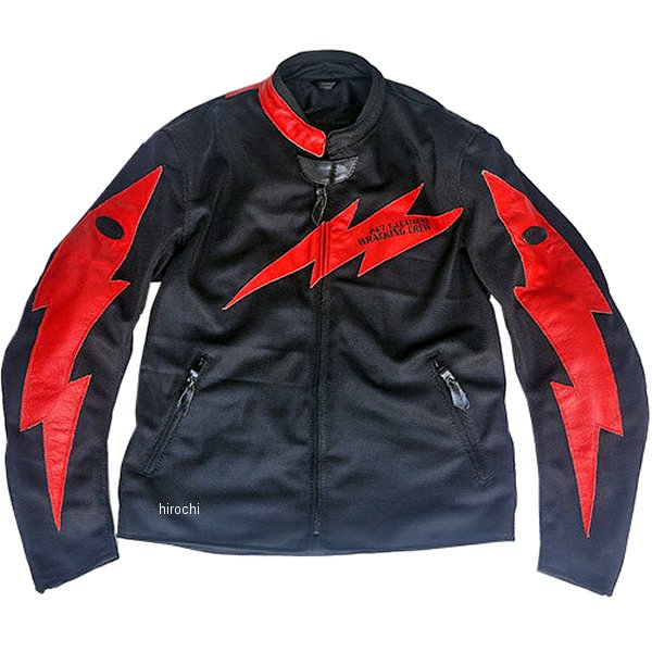 TFJ1901 トゥエンティ・フォー・セブン カスタムレザース 24/7 Custom Leathers メッシュジャケット 黒/赤 XLサイズ TFJ1901-BK-RD-XL JP店