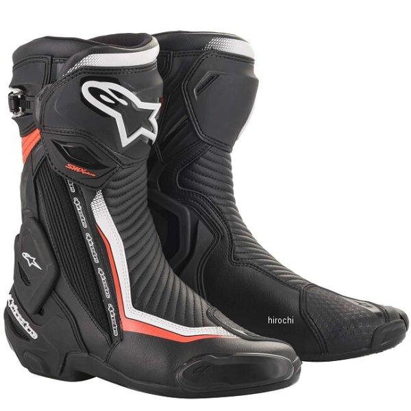 【メーカー在庫あり】 アルパインスターズ 春夏モデル ブーツ SMX PLUS V2 1231 黒/白/レッドフロー 43サイズ 27.5cm 8033637962177 JP店