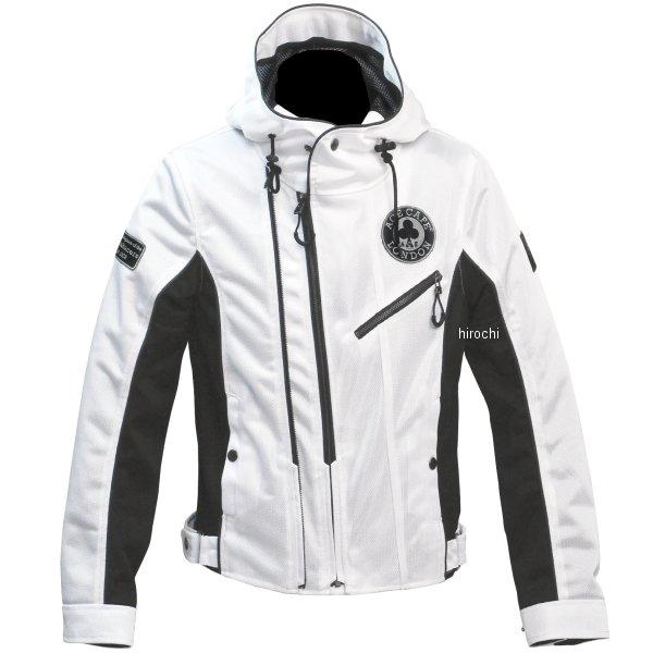 【即納】 エースカフェロンドン 2020年春夏モデル メッシュW2 フーデッドジャケット 白 Lサイズ SS2001MJ-WH/L JP店