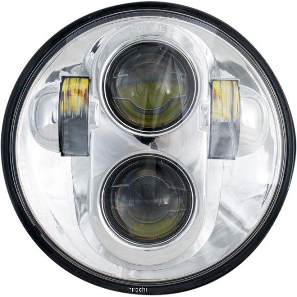 【USA在庫あり】 リブコ プロダクト RIVCO Products LED ヘッドライト 5.25インチ アセンブリ H4 9003 クローム 2001-1566 JP店