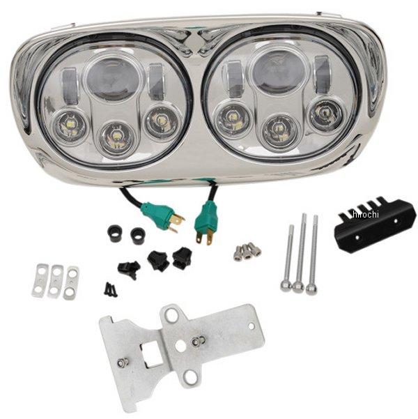 【USA在庫あり】 ヘッドウィンド Headwinds LED ヘッドライト 5.75インチ アセンブリ 9003 98年-13年 FLTR シルバー 2001-1772 JP店