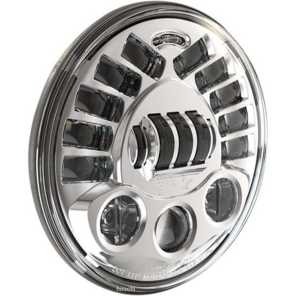 【USA在庫あり】 JWスピーカー J.W. Speaker LED ヘッドライト 7インチ アダプティブ2 H4 8790 クローム/取付リング無し 2001-1774 JP店