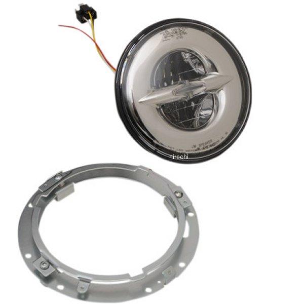 【USA在庫あり】 DRAG LED ヘッドライト 7インチ リフレクタースタイル クローム (セット) 2001-1788 JP店