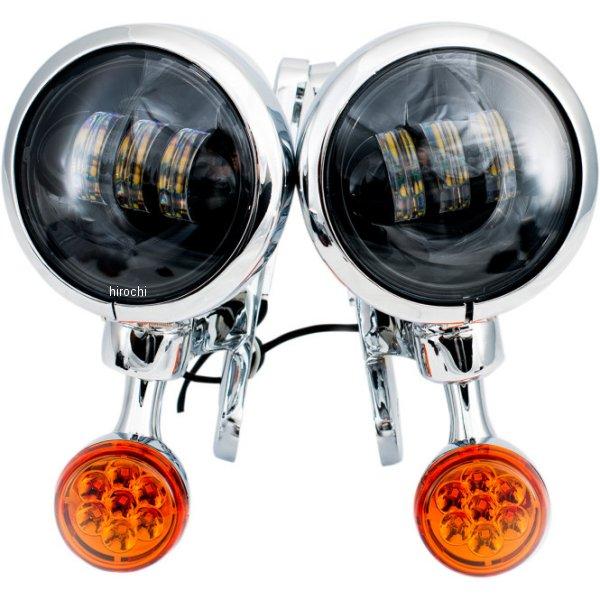 【USA在庫あり】 リブコ プロダクト RIVCO Products LED補助ライト4.5インチ/LEDウインカー付き クローム/スモーク/アンバー 2020-1577 JP店