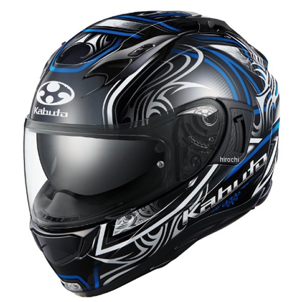 【メーカー在庫あり】 オージーケーカブト OGK KABUTO フルフェイスヘルメット KAMUI-3 JAG ブラックブルー Mサイズ 4966094596682 JP店