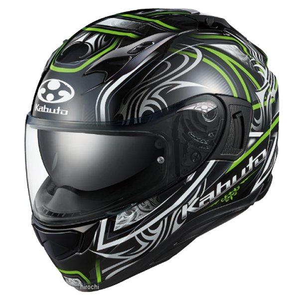 【メーカー在庫あり】 オージーケーカブト OGK KABUTO フルフェイスヘルメット KAMUI-3 JAG ブラックグリーン Sサイズ 4966094596729 JP店