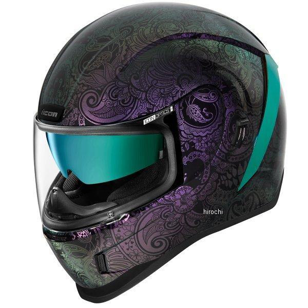 アイコン ICON フルフェイスヘルメット AIRFORM 超激得SALE CHANTILLY 0101-13403 XLサイズ OPAL 紫 返品交換不可 JP店