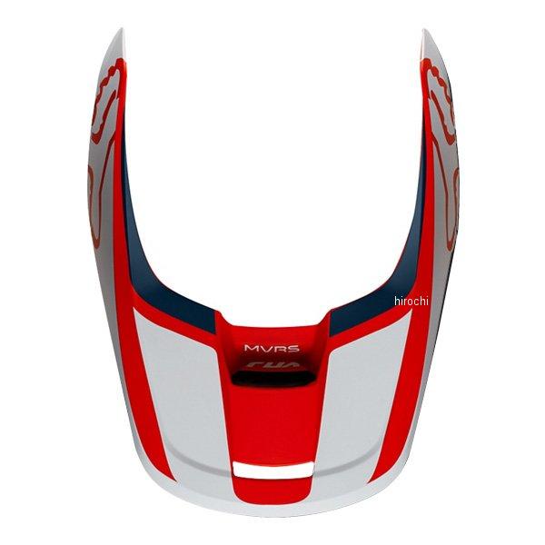 フォックス FOX 訳あり品送料無料 ヘルメットバイザー V1 プリズム用 赤 ネイビー 22975-248-XL JP店 別倉庫からの配送 XLサイズ