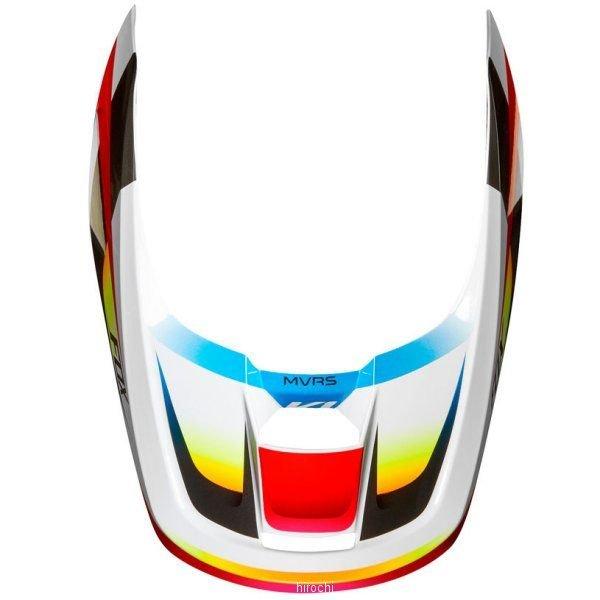 フォックス FOX 2020 ヘルメットバイザー V1 モチーフ用 22979-054-XL 白 赤 セール特価 XLサイズ JP店