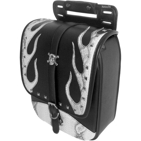 クロス Xross サドルバッグ シングル 黒 ホワイトパイソン シルバースカル TFF-102-3S JP店