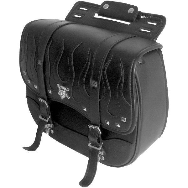 クロス Xross サドルバッグ シングル 黒 フレアステッチ シルバースカル YFF-001-3S JP店
