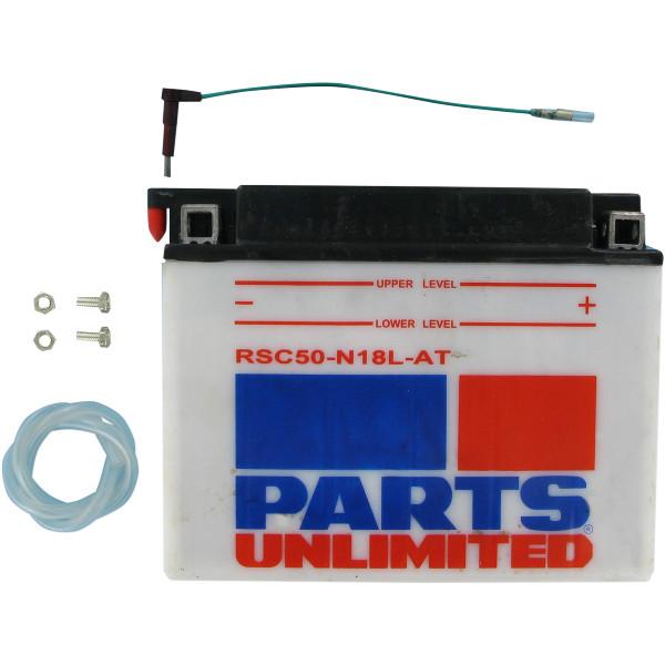 【USA在庫あり】 パーツアンリミテッド Parts Unlimited 液別 耐久バッテリー 開放型 12V SY50-N18L-AT RSC50-N18L-AT JP店