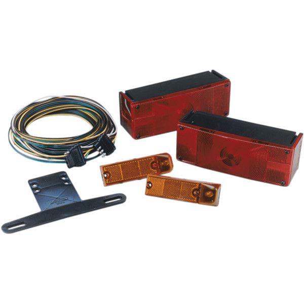 【USA在庫あり】 WESBAR ロー プロファイル テイルライトキット(2個テール、2個サイドマーカー、取付金具、スイッチ線) 1706-0119 JP