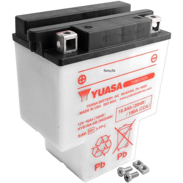 【USA在庫あり】 ユアサ YUASA YuMiCRON バッテリー 開放型 12V HYB16A-AB JP店