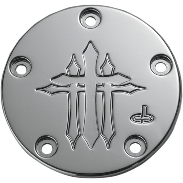 【USA在庫あり】 カールブロウハード Carl Brouhard Designs ポイントカバー 99年-17年 Twin Cam クロス クローム 0940-1042 JP店
