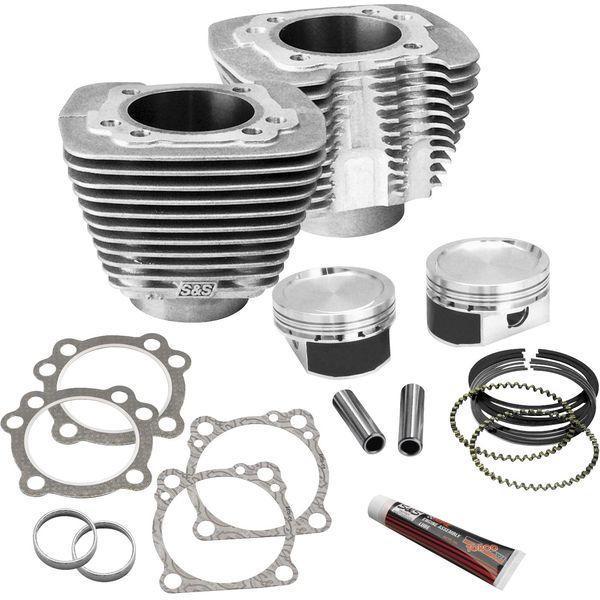 【USA在庫あり】 S&Sサイクル S&S Cycle 1200ccから1250cc改造キット 86年以降 XL 圧縮比10:3:1 シルバー 0931-0527 JP店
