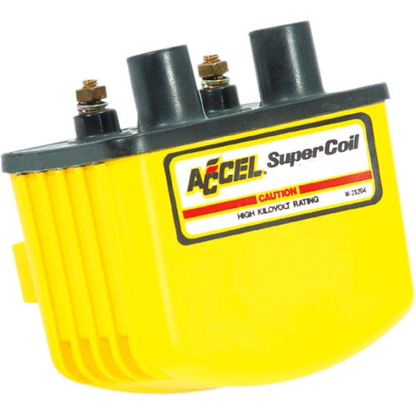 【メーカー在庫あり】 アクセル ACCEL コイル 3オーム シングルファイアー 電子イグニッション 黄 140408 JP店