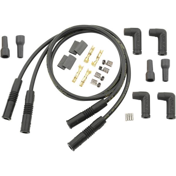 【USA在庫あり】 アクセル ACCEL 8.8mm デュアル プラグコード ストレート 汎用 黒 DS-242658 JP