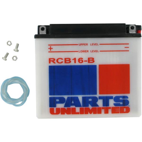 【USA在庫あり】 YB16B パーツアンリミテッド Parts Unlimited 耐久バッテリー 開放型 84年-96年 ハーレー RCB16-B JP店
