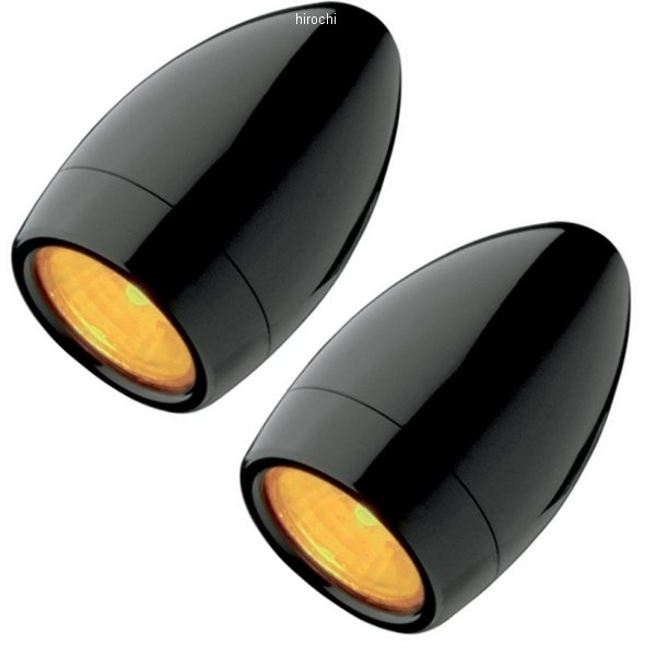 【USA在庫あり】 ヘッドウィンド Headwinds ウインカー 1インチ 20W MR8 ハロゲン シングル球 Hornet 黒 2040-0994 JP店