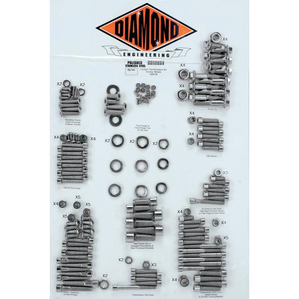 【USA在庫あり】 ダイヤモンドエンジニアリング Diamond Engineering ボルトキット カバー全体 99年-06年 FLH OEMスタイル 2401-0217 JP