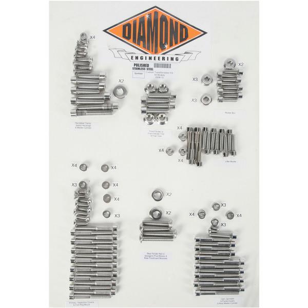 【USA在庫あり】 ダイヤモンドエンジニアリング ボルトキット カバー全体 04年以降 XL OEMスタイル 2401-0271 JP店