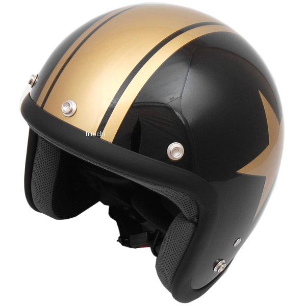 山城 ジュクー JUQUE ヘルメット FC024 スター 黒/ゴールド Lサイズ 4547544030354 JP店