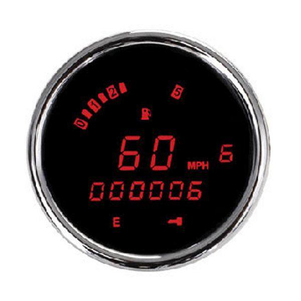 【USA在庫あり】 ダコタデジタル Dakota Digital スピード/タコメーター(km/h、MPH) 3200 FXCW 赤LED/クローム 2210-0157 JP