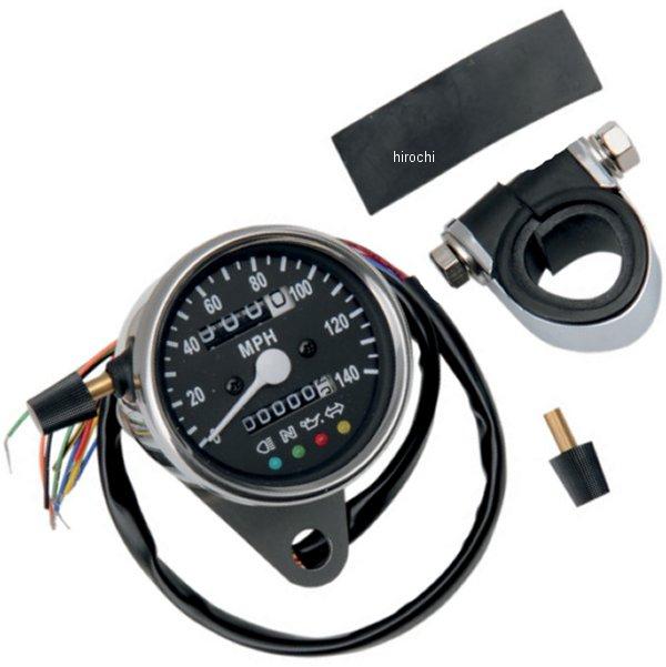 【USA在庫あり】 DRAG 2.37インチ(60mm) 2240:60 機械式スピードメーター(140MPH) 黒 2210-0210 JP