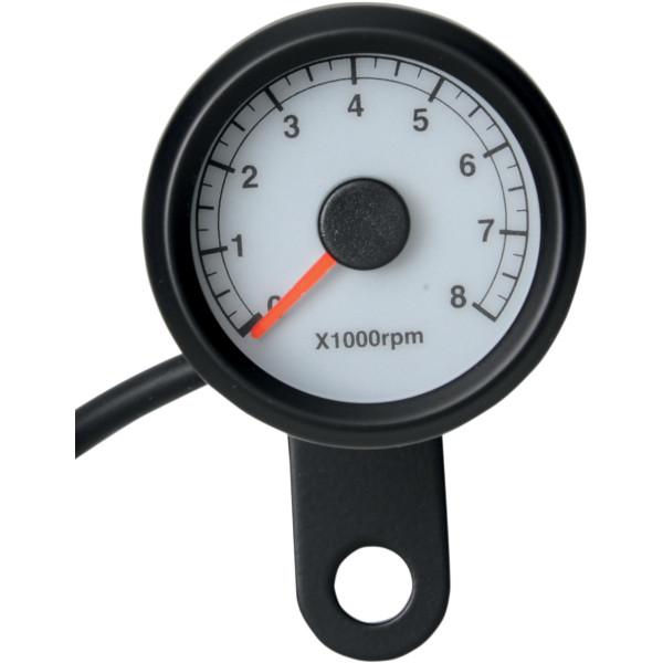 【USA在庫あり】 DRAG 電子タコメーター 8000rpm 黒ボディ/白/LED 2211-0124 JP