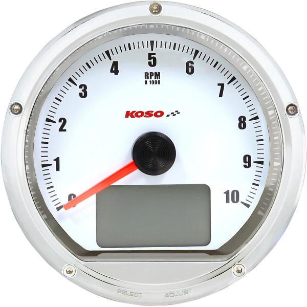 【USA在庫あり】 コソ KOSO スピード/タコメーター(km/h、MPH) クローム/白 2211-0132 JP